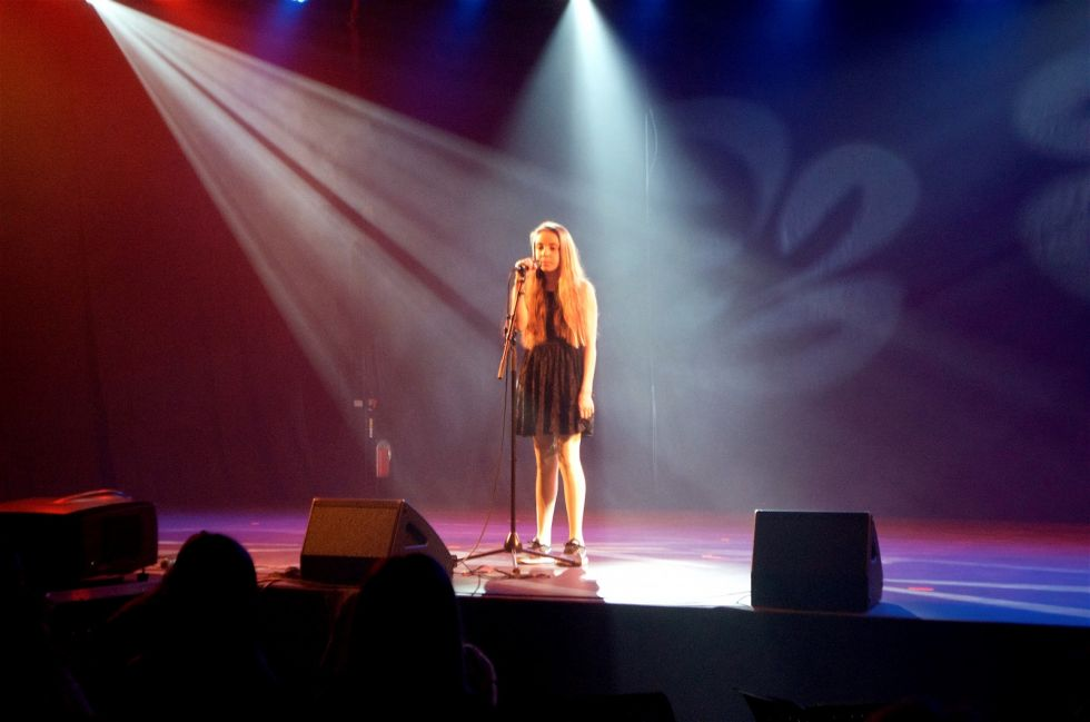 UKM HOLTÅLEN 2018: Miriam Heksem (12) sang A Thousand Years Foto: Per Magne Moan
